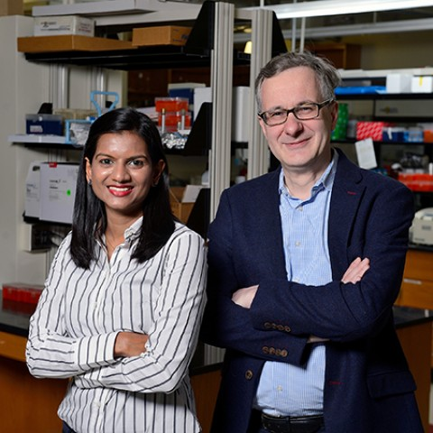 Hasini Jayatilaka (left) and Denis Wirtz