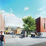 Architectural rendering of the Harry and Jeanette Weinberg Early Childhood Center.