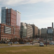 Nearly $300 million of construction projects were completed, or got under way, last year. Among them are the 929 apartment building tower, which is already home to about 500 residents, most of them Johns Hopkins graduate students.